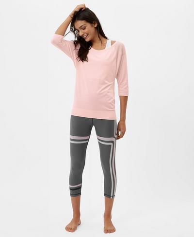 Dharana Short Sleeve Yoga T-Shirt, Liberated Pink | Sweaty Betty