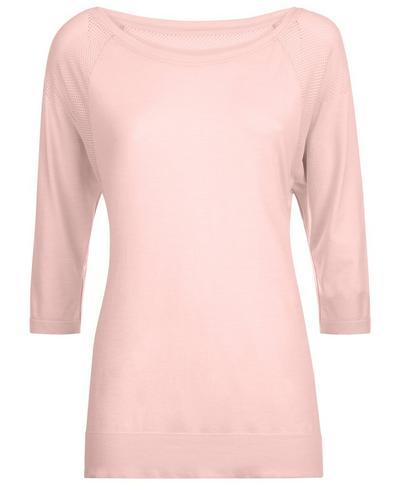 Dharana Short Sleeve Yoga Tee, Liberated Pink | Sweaty Betty