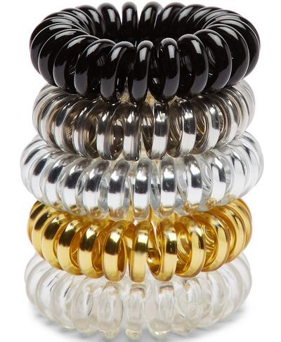 Spiral Hair Toggle 5pk, Metallic Multi | Sweaty Betty