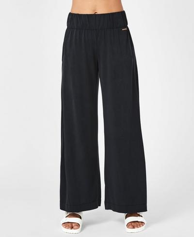 Peaceful Split Pants, Black | Sweaty Betty