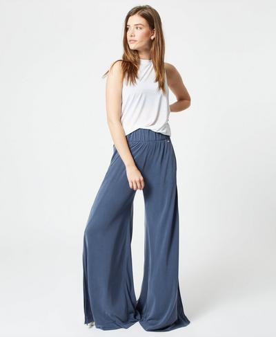 Peaceful Split Pants, Washed Navy | Sweaty Betty