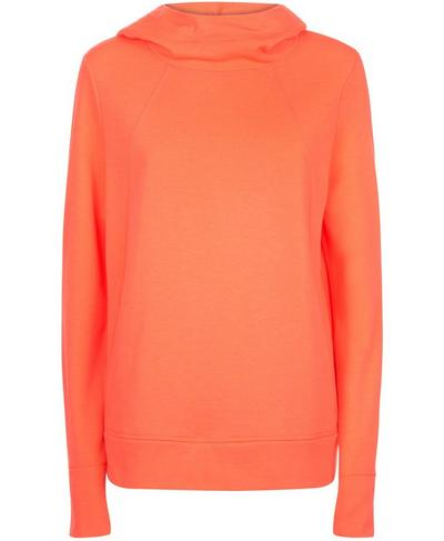 Pleat Tech Run Hoodie, Coral | Sweaty Betty