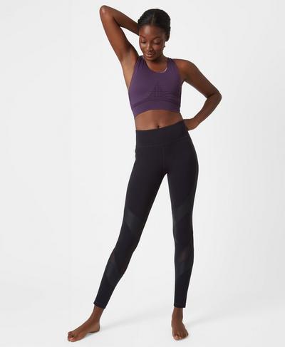 Stamina Workout Bra, Aubergine   Sweaty Betty