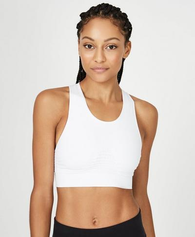 Stamina Workout Bra, White A | Sweaty Betty