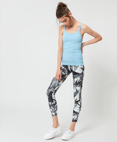 Contour Workout Leggings, Bamboo Shadow Print | Sweaty Betty