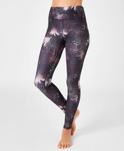 Contour Workout Leggings, Feather Print | Sweaty Betty