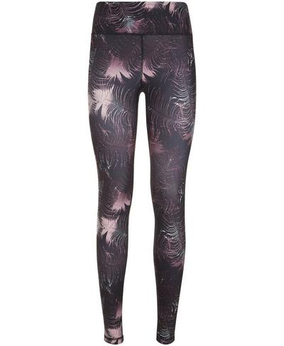 Contour Workout Leggings, Feather Print | Sweaty Betty