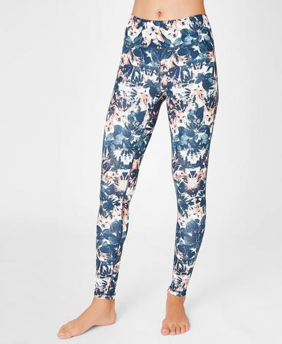 Contour Workout Leggings, Fox Print | Sweaty Betty