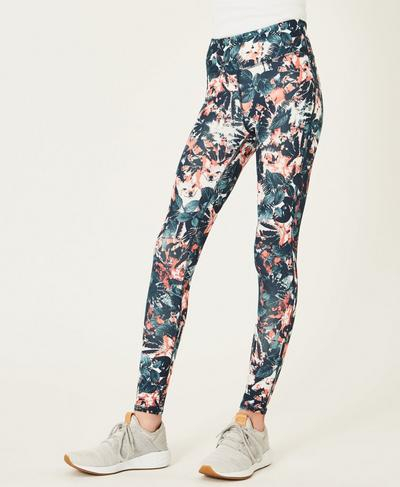 Contour Teen Workout Leggings, Fox Print | Sweaty Betty