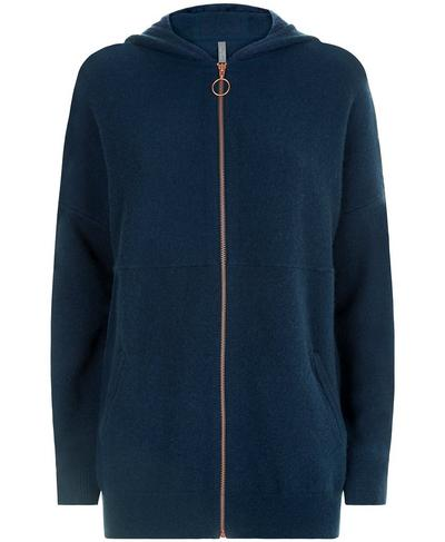 Assemble Wool Cashmere Knitted Hoodie, Beetle Blue | Sweaty Betty