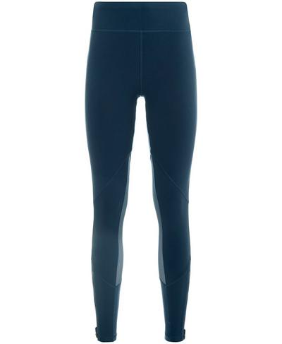 Zipped Up Textured Leggings, Beetle Blue | Sweaty Betty