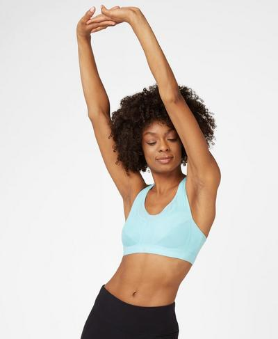 Ultra Run Sports Bra, Angel Blue | Sweaty Betty