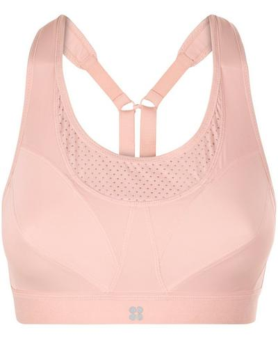 Ultra Run Sports Bra, Liberated Pink | Sweaty Betty