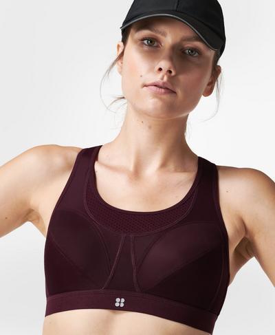 Ultra Running Bra , Plum Red | Sweaty Betty