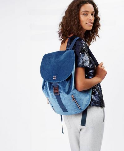 Velvet Backpack, Beetle Blue | Sweaty Betty