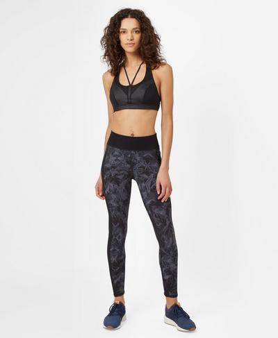 Tempo Workout Bra, Black | Sweaty Betty