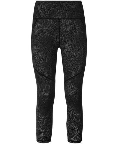 Power Crop Leggings, Running Wild Tonal Print | Sweaty Betty