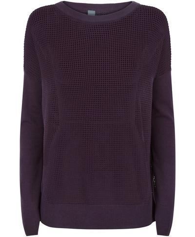 Amity Knitted Sweater, Aubergine | Sweaty Betty