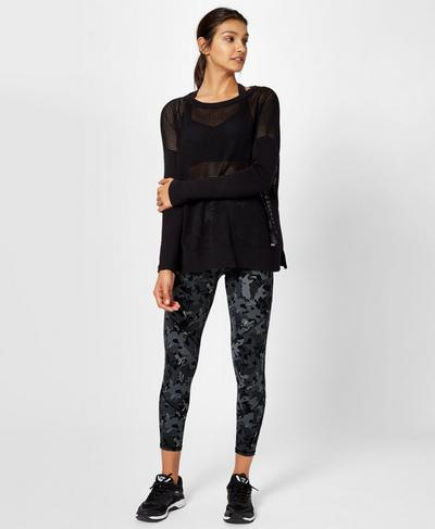 Amity Knitted Sweater, Black | Sweaty Betty