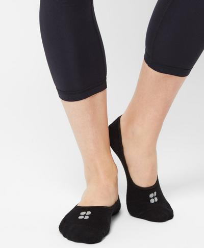 Low Sneaker Liners, Black | Sweaty Betty