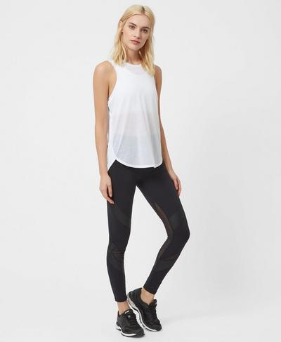 Pacesetter Run Tank, White | Sweaty Betty