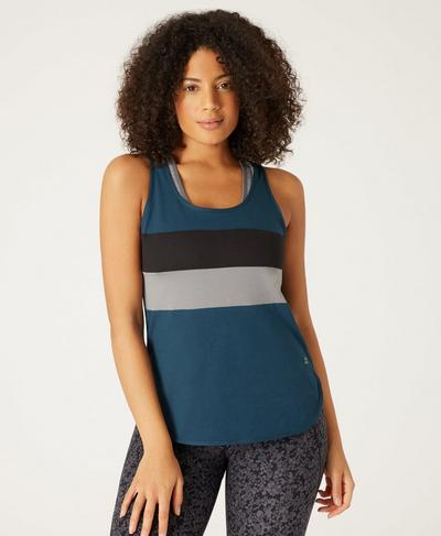 Morgan Workout Tank, Beetle Blue A | Sweaty Betty