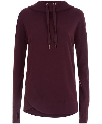 Luxe Invigorate Hoodie, Aubergine | Sweaty Betty