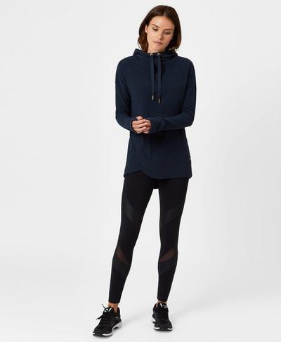 Luxe Invigorate Hoodie, Beetle Blue | Sweaty Betty