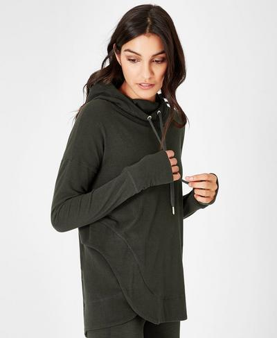 Invigorate Luxe Hoodie, Dark Forest | Sweaty Betty