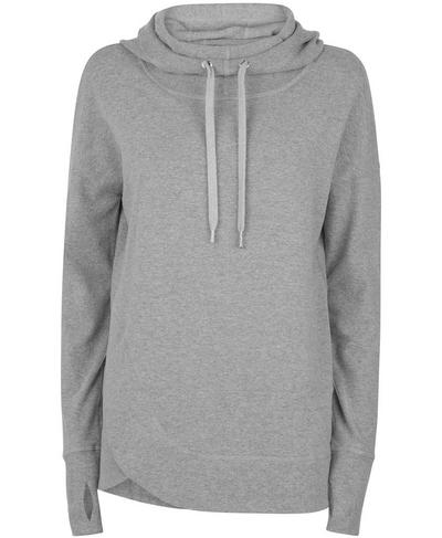 Luxe Invigorate Hoodie, Light Grey Marl | Sweaty Betty