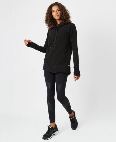 Luxe Invigorate Hoodie, Black | Sweaty Betty