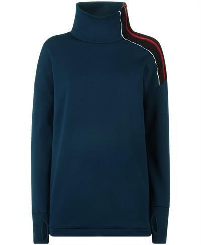 Infield Thermal Pull Over, Beetle Blue | Sweaty Betty