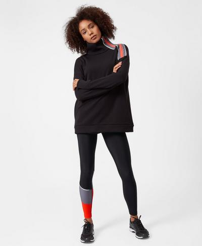 Infield Thermal Pull Over, Black | Sweaty Betty