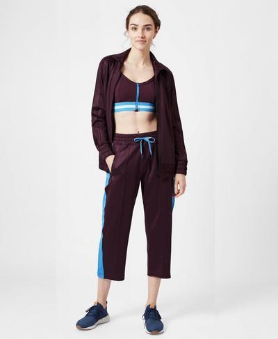 Laverne Track Jacket, Oxblood | Sweaty Betty