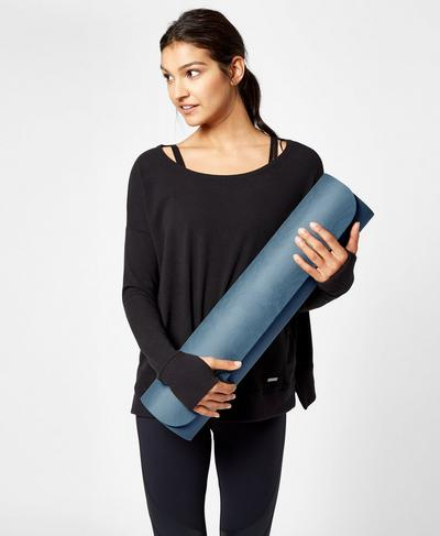 Eco Yoga Mat, Beetle Blue | Sweaty Betty