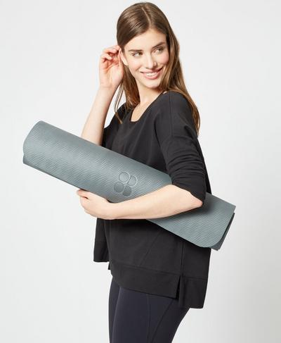 Eco Yoga Mat, CHARCOAL | Sweaty Betty