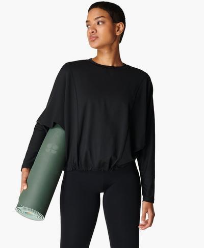 Eco Yoga Mat, Heath Green | Sweaty Betty