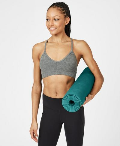 Eco Yoga Mat, June Bug Green | Sweaty Betty