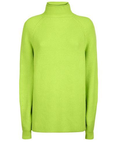 Mork Knitted Sweater, Green Alert   Sweaty Betty