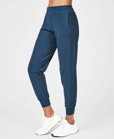 Garudasana Lightweight Yoga Pants, Beetle Blue | Sweaty Betty