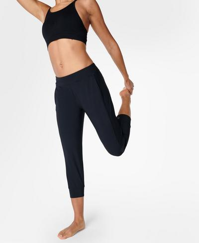 Garudasana Lightweight Yoga Pants, Black | Sweaty Betty