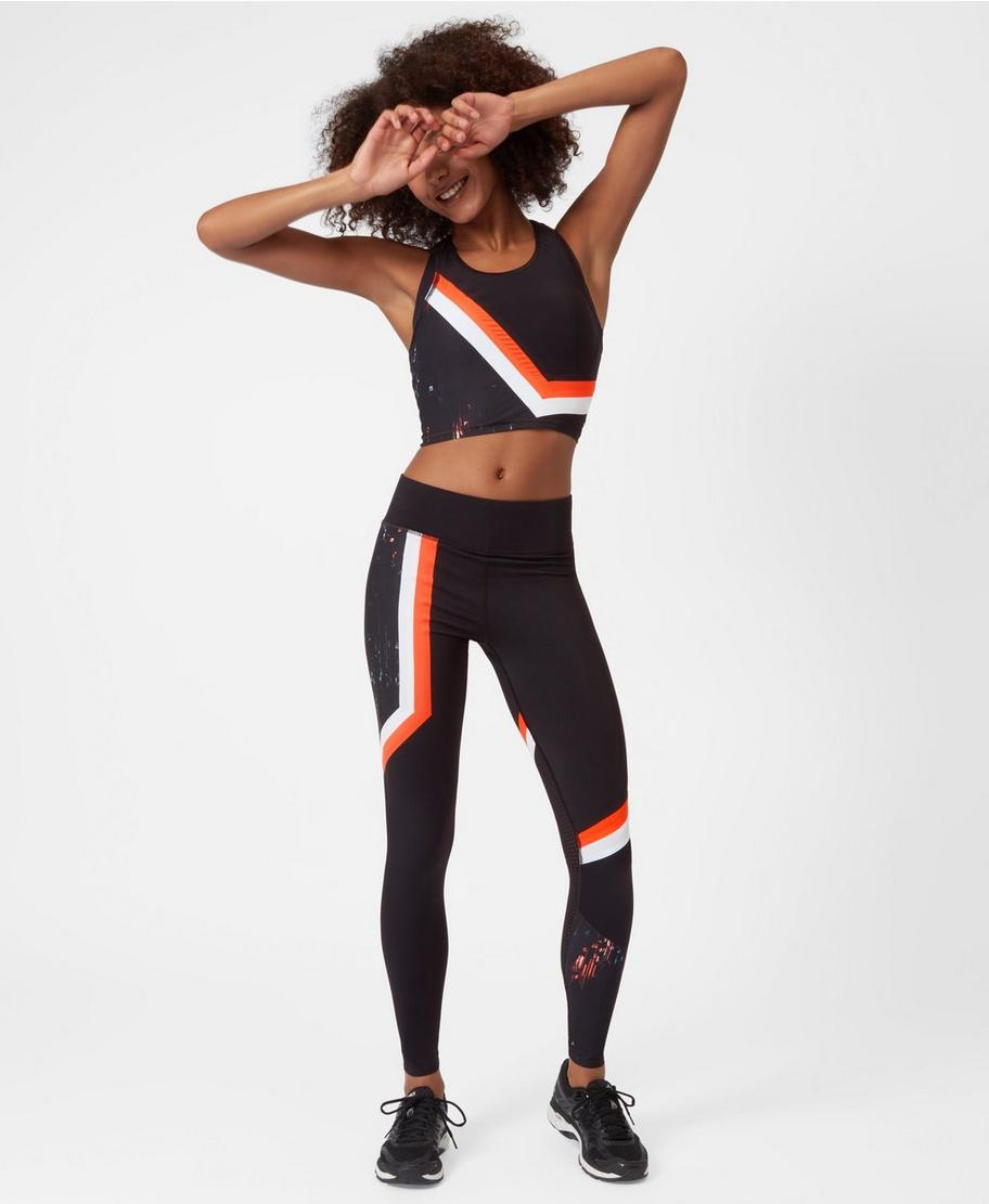 119df75be7eba7 Zero Gravity Run Leggings - Glitch Colour Block   Women's Leggings   Sweaty  Betty