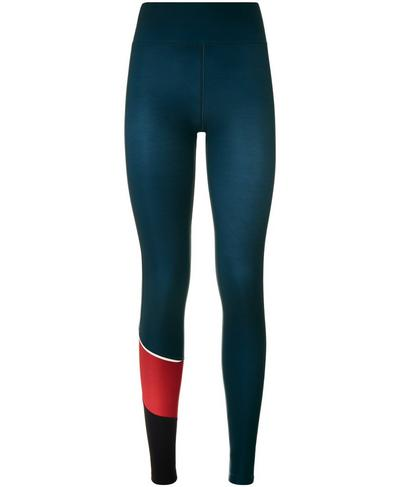 Thermodynamic Run Leggings, Beetle Blue Colour Block | Sweaty Betty