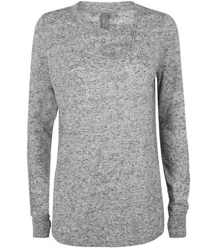 Twist Long Sleeve Yoga Top, CHARCOAL | Sweaty Betty