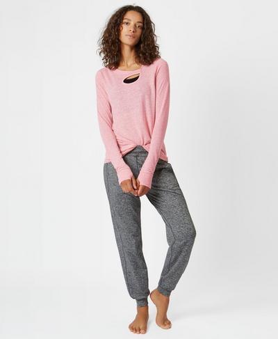 Twist Long Sleeve Yoga Top, ROSE   Sweaty Betty