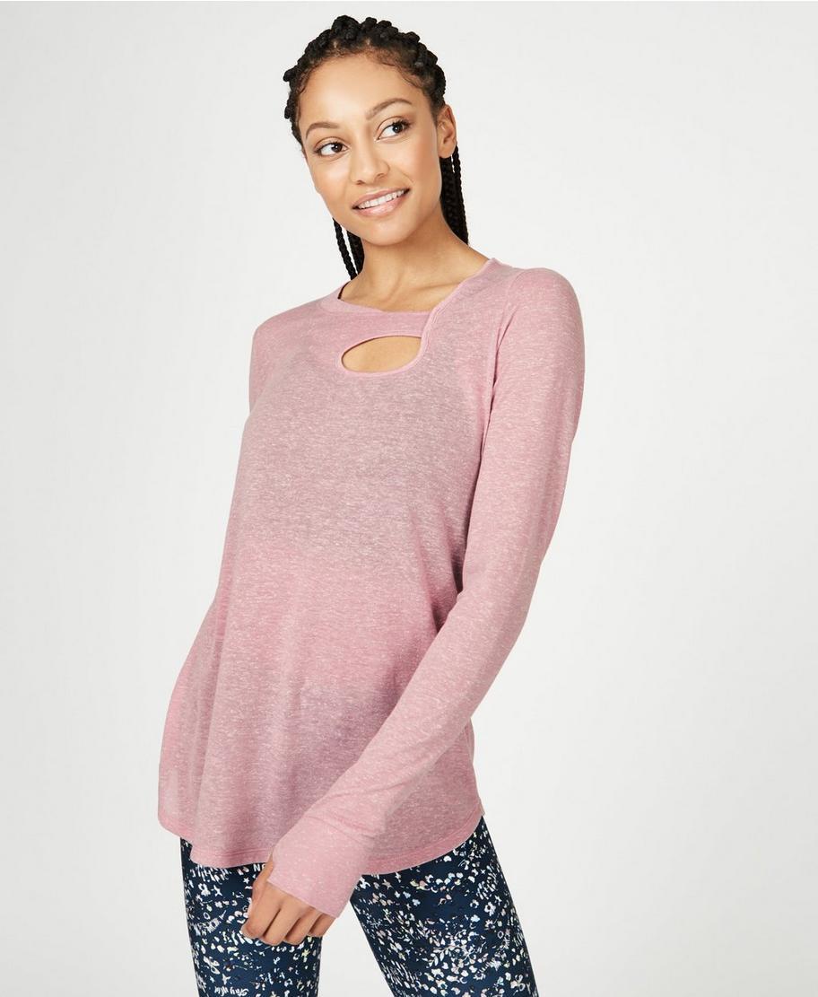 4f9db277c608d Twist Long Sleeve Yoga Top - Velvet Rose | Women's Base Layers & Long  Sleeve Tops | Sweaty Betty