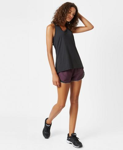Interval Run Shorts, Aubergine | Sweaty Betty