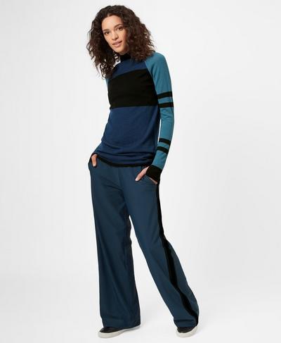 Luxe Sono Pants, Beetle Blue | Sweaty Betty