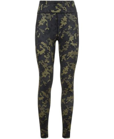 Reversible Yoga Leggings, Olive Camo Print | Sweaty Betty