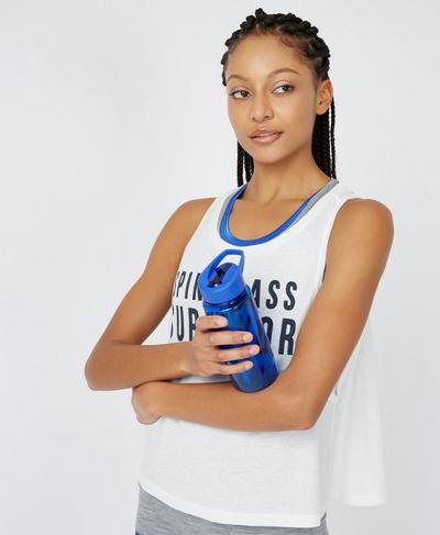 Slogan Water Bottle, Ultramarine | Sweaty Betty